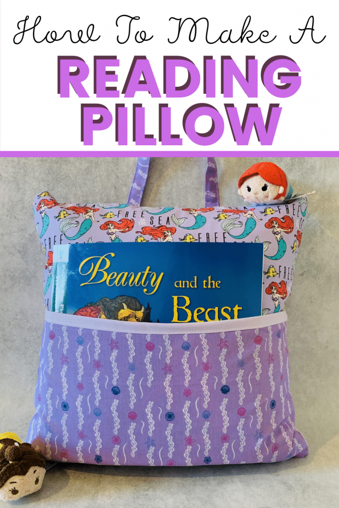 How to make a reading pillow. This tutorial is super easy to follow, and leaves you with a fantastic finished product.  how to make a reading pillow. how to make reading pillows. reading pillows pattern. reading pillows for kids pattern. reading pillows for adults. reading cushion. reading cushion for kids.